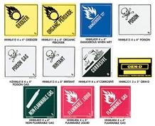 D.O.T. HAZARDOUS MATERIAL LABELS